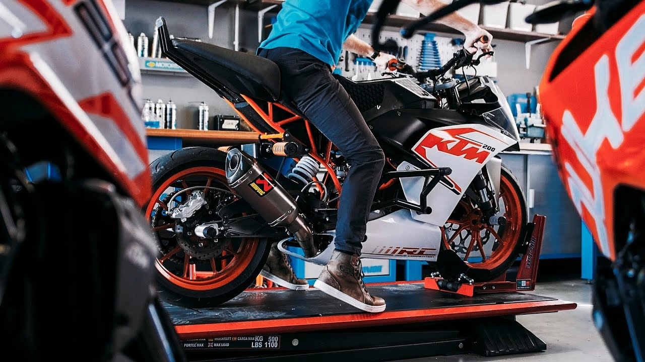 Updating my KTM RC 200 stunt bike |  RokON VLOG #33