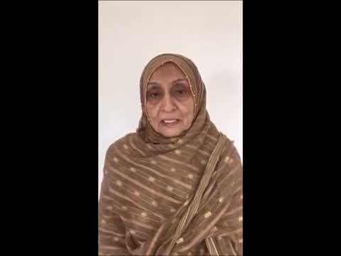 Wife of Shaheed Hamid Ali Bhojani urging Khoja Community to vote