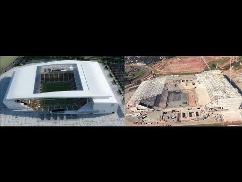 """Construção do """"ITAQUERÃO""""Estádio para Copa 2014 (Emirates Arena) São Paulo"""