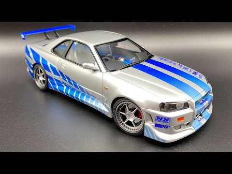 Building a Replica Nissan Skyline R34 GT-R from 2 Fast 2 Furious in 1:24 scale