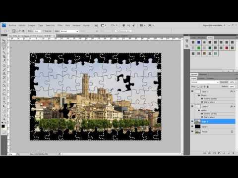 Como hacer el efecto Puzzle en Photoshop