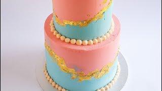 Gender Reveal Cake Tutorial- Rosie's Dessert Spot
