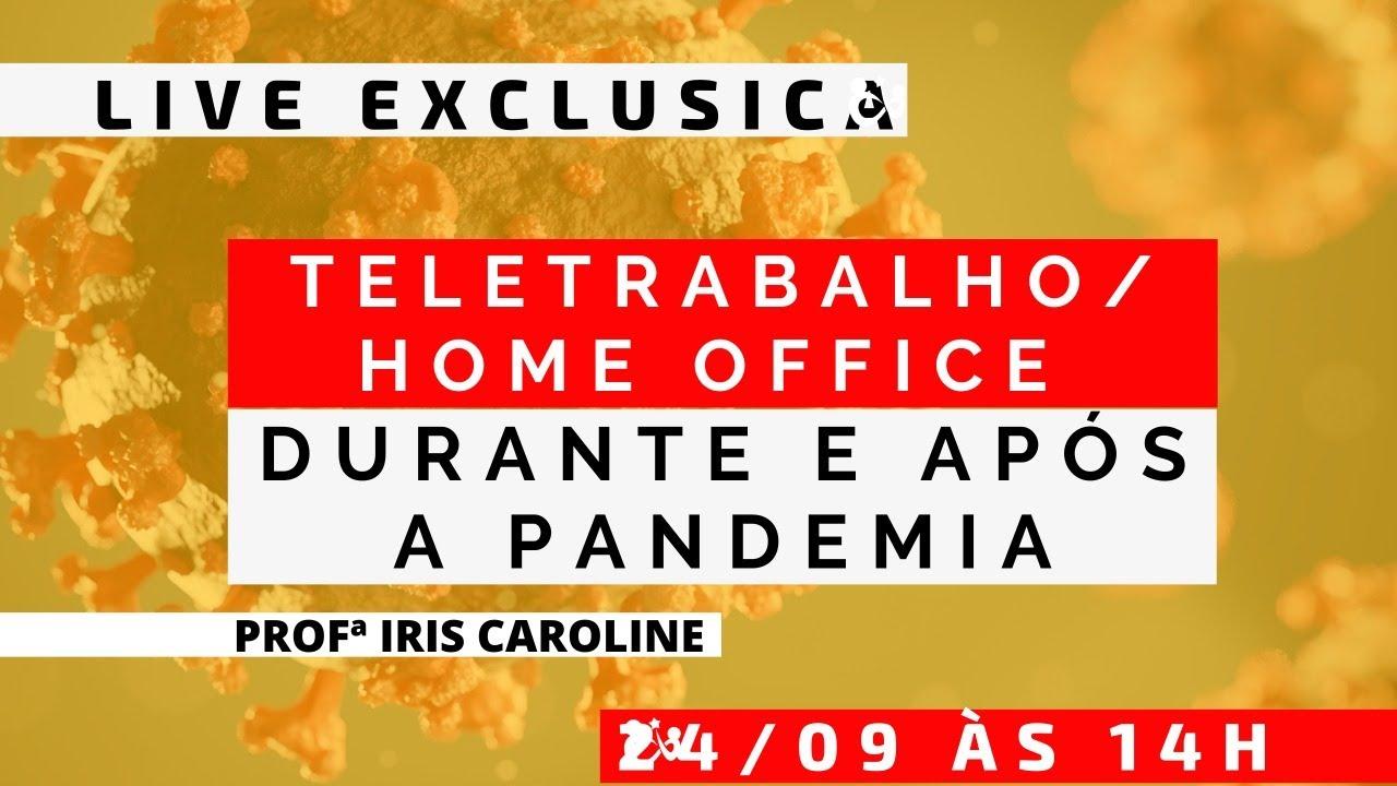 TELETRABALHO/HOME OFFICE DURANTE E APÓS A PANDEMIA