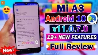 Mi A3 Android 10 Update Roll Out | 12+ New TOP Features | Mi A3 v11.0.7.0 Update | Mi A3 Android 10