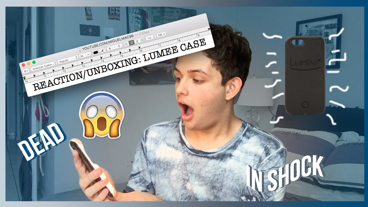 best sneakers 4972a 186eb UNBOXING/REACTING : LUMEE CASE