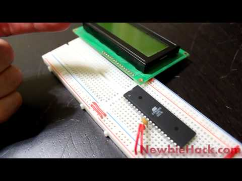 19. Arduino for Production!  AVR Atmega32 - Intro to LCD... Meet Mr. LCD and check out his crib.