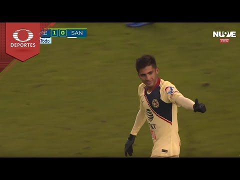 Gol de Fernando González | América 1 - 0 Santos | Partido Amistoso | Televisa Deportes