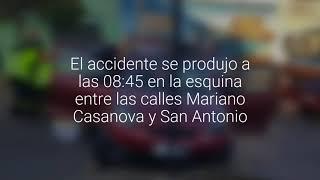 Choque de automóvil contra solera dejó a una conductora lesionada en Cartagena