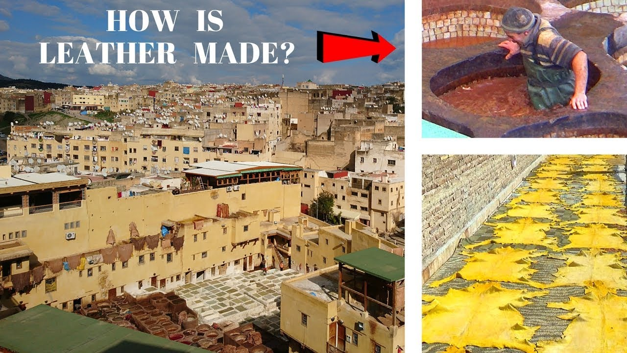 HOW IS LEATHER MADE? Tanneries Tour - FEZ MOROCCO MAROC