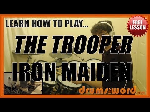 ★ The Trooper (Iron Maiden) ★ FREE Video Drum Lesson   How To Play FILLS (Nicko McBrain)