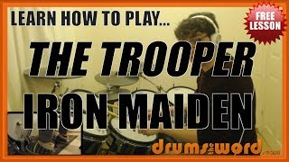 ★ The Trooper (Iron Maiden) ★ FREE Video Drum Lesson | How To Play FILLS (Nicko McBrain)