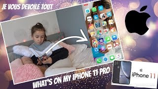 WHAT'S ON MY IPHONE 11 PRO ON VOUS DÉVOILE TOUT