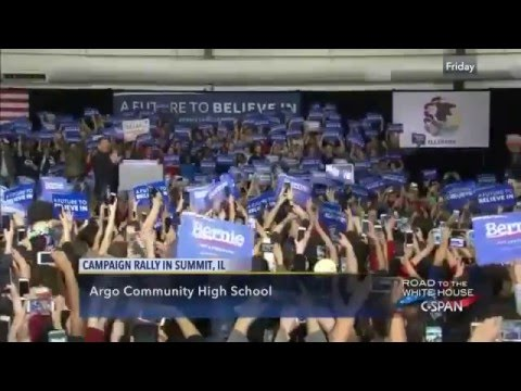 Senator Bernie Sanders Campaign Rally in Summit Illinois