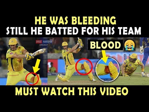 IPL 2019 Final : Shane Watson Played With Bleeding Knee | Heart Breaking Video 💔 | Blood | Respect