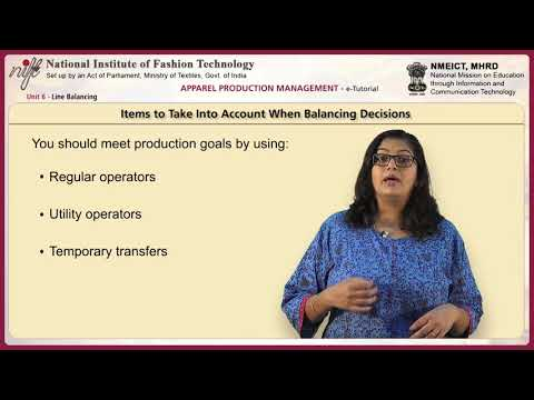 Apparel production management: line balancing