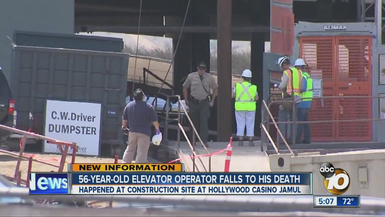 Elevator operator falls to his death at Jamul construction site