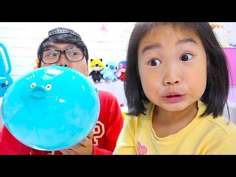 보람이와코난 동물 풍선놀이 Boram playing and learning with colors Balloons for children