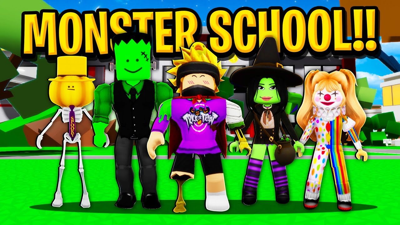 Download My First day at MONSTER SCHOOL in Roblox BROOKHAVEN RP!!