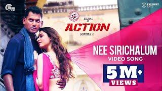Action Nee Sirichalum Song Vishal Tamannaah Hiphop Tamizha Sadhana Sargam Sundar C