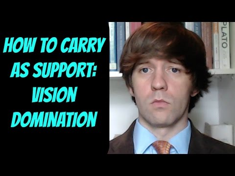 An In-depth Analysis of Vision Control -- How to Carry as Support -- League of Legends