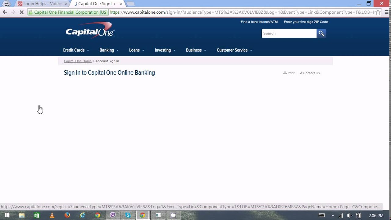 Capital One Credit Card Login - Capital One Credit Card Sign In ...