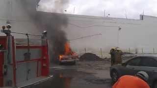 Se incendió carro en centro de Barquisimeto