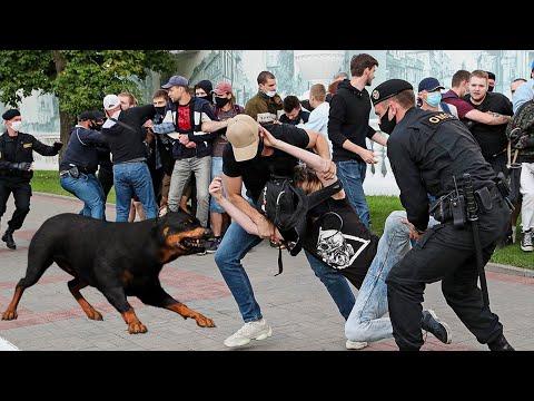 Быдло Избили Собаку на митинге в Беларуси / страшная новость Минск, Белоруссия.