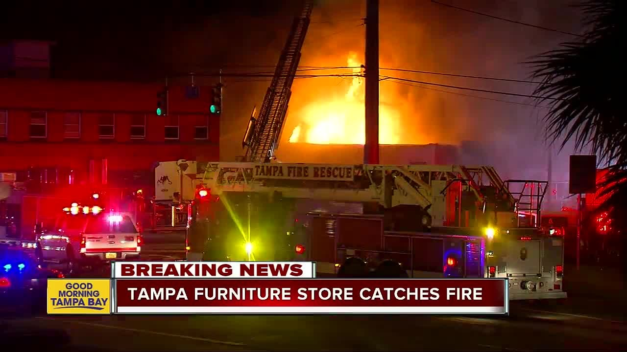 overnight fire destroys southern used furniture store in tampa