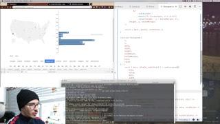 Live: Refactoring React for DataViz example to React Hooks, take 2