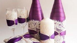 Новый год! Как украсить бутылку шампанского своими руками. Hand Maid