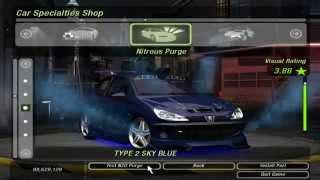 Need For Speed Underground 2 Peugeot 206 Tuning Blue By RASTAKITTEN