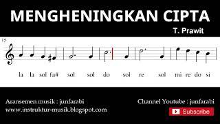 Gambar cover nada mengheningkan cipta - not balok melodi pianika - doremi solmisasi
