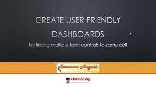Einen einfachen trick zum erstellen von Benutzer-freundliche Excel-dashboards