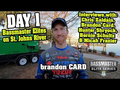 Bassmaster Elites on St. Johns River - 1st Event - Interviews with Zaldain, Card & more