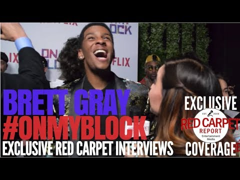 """Brett Gray interviewed at Premiere of Netflix's coming of age comedy """"On My Block!"""" #OnMyBlock"""