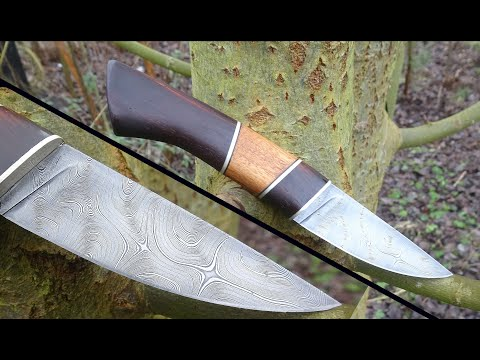 Knife Making - Twisted Damascus Hunting Knife