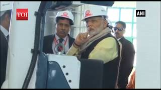 Uttar Pradesh: PM Modi inspects Modern Coach Factory in Raebareli