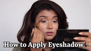 How to Apply Eyeshadow | Eyeshadow Tutorial for Beginners (Hindi)