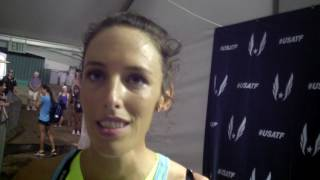 Gabe Grunewald after running the final race of her '17 season at USAs