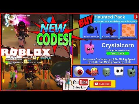 🎃 Roblox Mining Simulator - HALLOWEEN CODES! Crystalcorn! Haunted Pack! NEW Pets & MORE! LOUD!