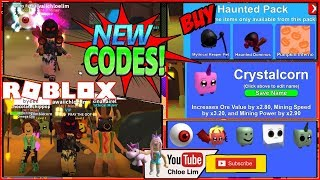 🎃 Roblox Mining Simulator - HALLOWEEN CODES! Crystalcorn! Haunted Pack! NEW Pets & MORE! LOUD!