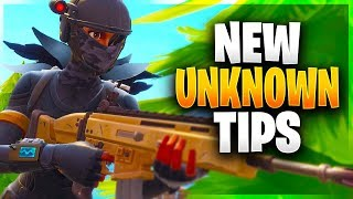 NEW UNKNOWN PRO TIPS! (Fortnite Battle Royale)