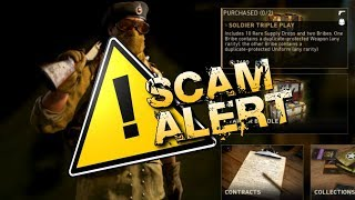 "WTF! NEW ""SOLDIER TRIPLE PLAY"" SCAM! (DO NOT BUY) SOLDIER TRIPLE PLAY Supply Drop Opening on COD WW2"