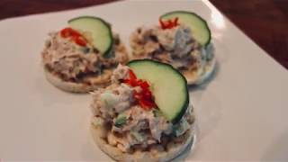 Tuna Mayonnaise Canapé Recipe by Tony Ferguson