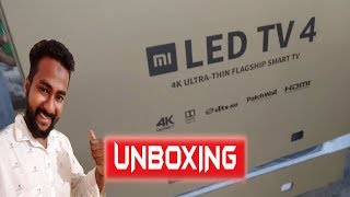 Xiaomi MiTv  4 (55 inch 4K HDR TV) Unboxing Worlds Thinnest LED TV| Kannada Tech Info