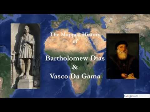 Mapped History 1: Bartholomew Diaz & Vasco da Gama