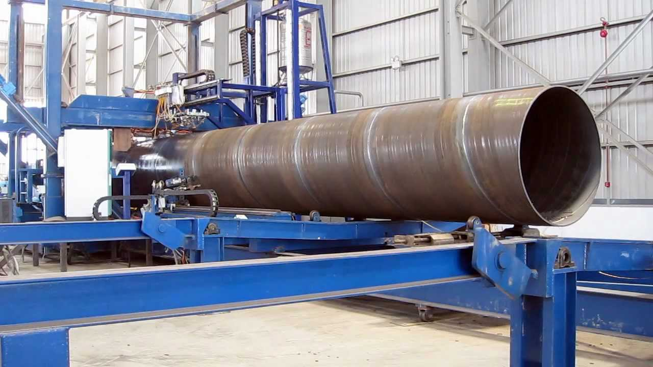 Online spiral pipe with dual seam tracking doovi