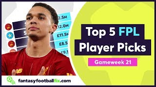 FPL Gameweek 21 | Top 5 Fix Player Picks | GW21 | Fantasy Premier League 2019/20