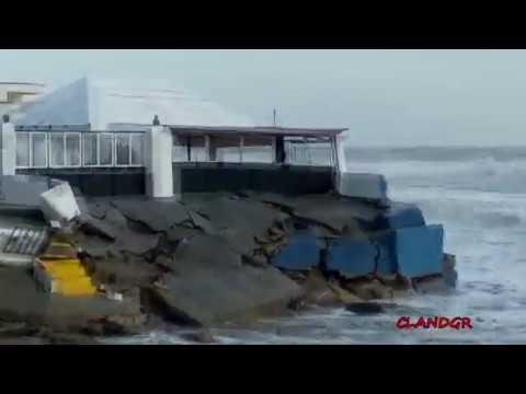 Destrozo de Playas de Huelva por EMMA 2018 Isla Cristina, Islantilla y Lepe