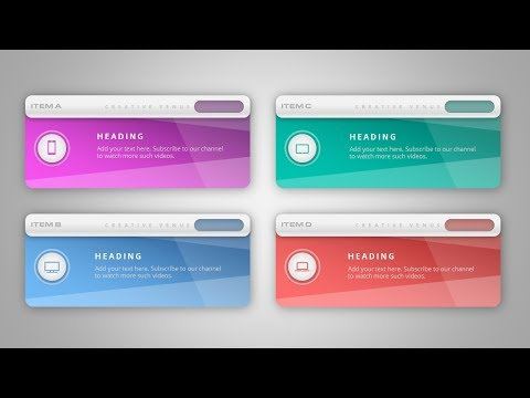 How To Create Beautiful Infographic Cards Callouts in Microsoft Office PowerPoint PPT
